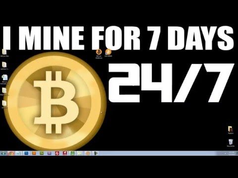 7 DAY$-24_HR$ - BITCOIN MINING EXPERIMENT - See How Much Money I Made _)