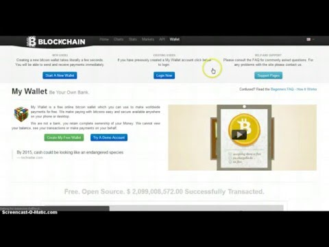 How to Setup a Bitcoin Wallet with Blockchain