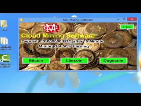 Bitcoin Litecoin Dogecoin MC Cloud Mining Software Earn 1 BTC Daily