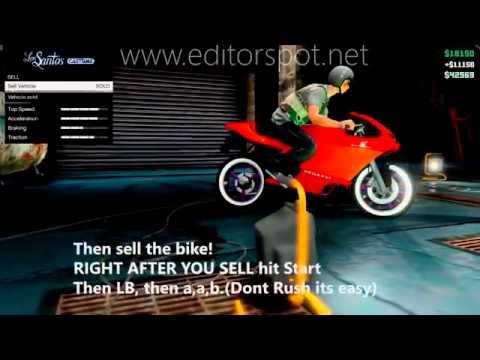 GTA5 Online - How to make Unlimited Money(Bike Glitch Tutorial) GTAV Multiplayer