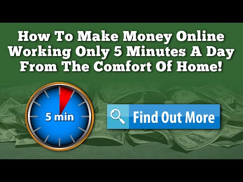 How To Make Money Online In 2016 Working 5 Minutes A Day From Home