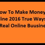 How To Make Money Online 2016 True Ways(map3)