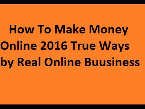 How To Make Money Online 2016 True Ways(map3)