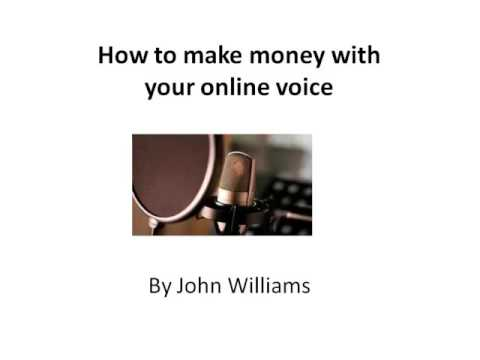 How to make money with your online voice