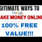 Legitimate ways to make money online 100% free value