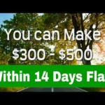 Make Money Online $300 – $500 within 14 days flat step by step System 100% no Cost