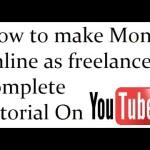 How to make money online – As a freelancer Urdu/English Part1