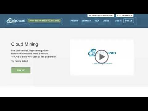 Hashocean Cloud Mining Bitcoins Pool 'HashOcean