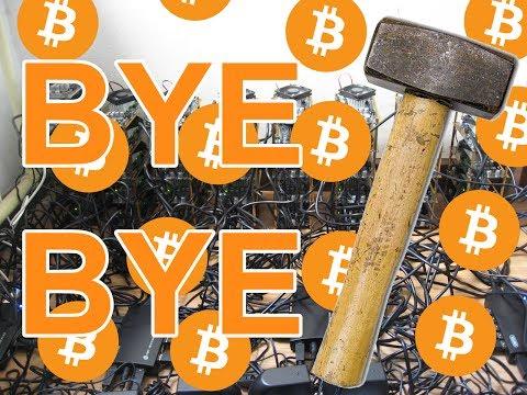 Destroying my Bitcoin mining rig