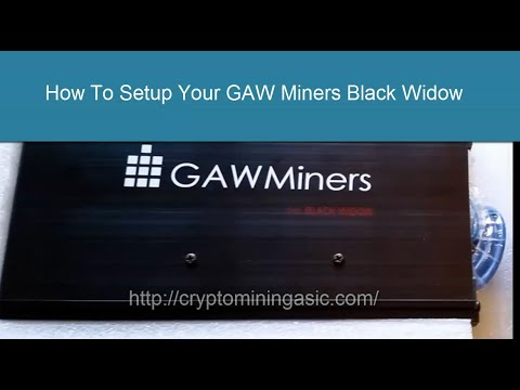GAWMiners Black Widow Setup Guide