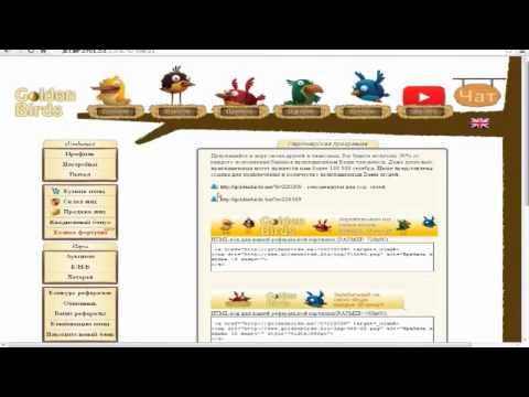 Как заработать в интернете  Golden Birds