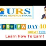 URS – Ultimaterevshare |DAY 40| GREAT TIPS ABOUT BITCOIN!!