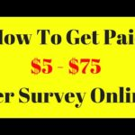 How To Earn Money Online Taking Surveys | $5 – $75 Per Survey
