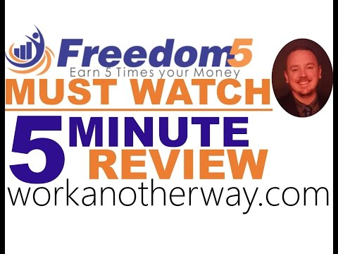 Freedom5 5 minute review Freedom 5 Review Revshare Tutorial No Scam Must Watch