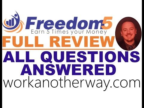 Freedom5 Revshare Full Review Freedom 5 Review Freedom5 Not A Scam Freedom5 Review Freedom5 Tutorial