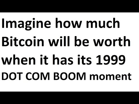 Bitcoin has yet to reach the level of the 1999 NASDAQ boom- Imagine when it does!