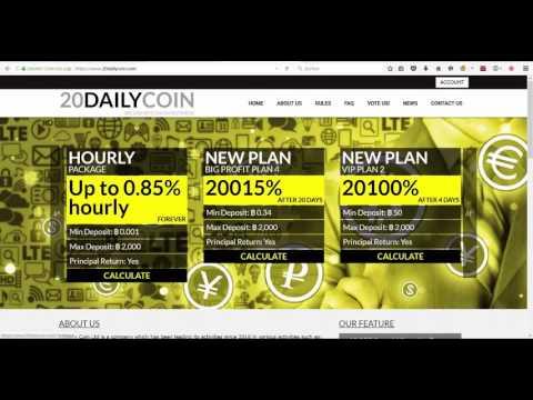 10.000 satoshi BONUS! CLOUD MINING BITCOIN HYIP 20dailycoin.com