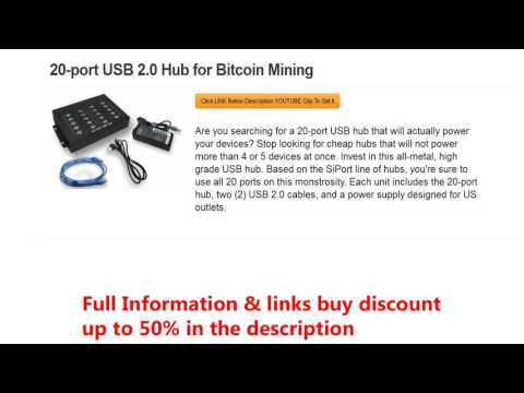 20-port USB 2.0 Hub for Bitcoin Mining