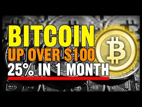 BITCOIN UPDATE JUNE 2016 - Bitcoin Up Over $100 & 25% In 1 Month