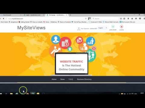 Mysiteviews Bitcoin Revshare - Getting Started with Dale Hodgson