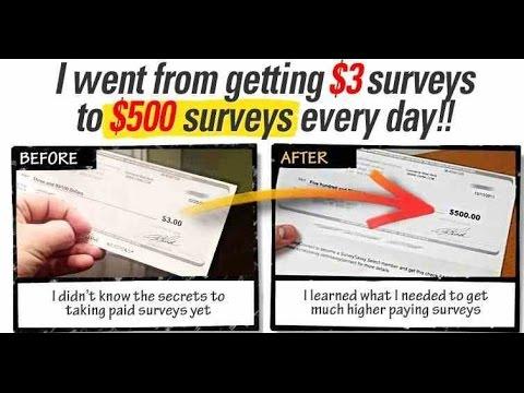 Take Surveys For Cash ! Make Money Online !