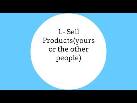 Easy Way To Make Money Online. Sell Products