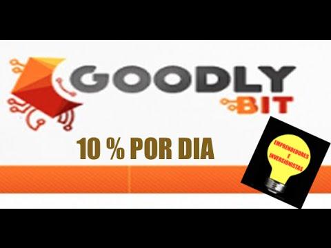 Goodlybit en español INVERCION AL 10%POR DIA!!! NO SCAM PAGA  BITCOIN