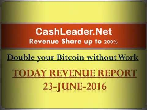 Bitcoin daily news and Cashleader daily revenue