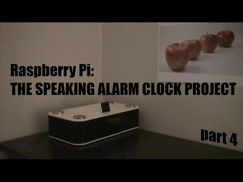 Raspberry Pi: Make a Speaking Alarm clock WEATHER + NEWS + BITCOIN
