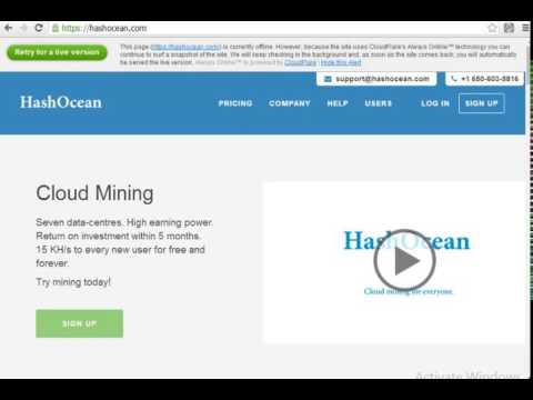 Bitcoin Scam Risk Warning – HashOcean|||HashOcean – A Platform Waiting To Collapse?