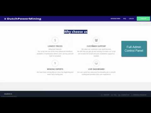 Start your own cloud mining website (CloudMining script)