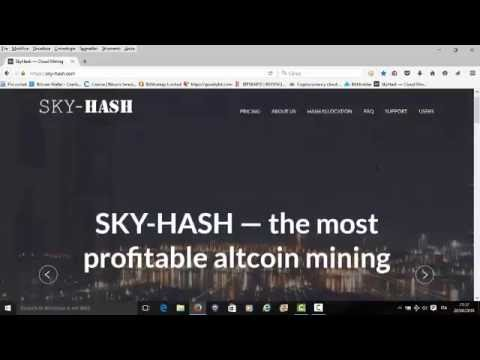 Sky Hash Best Bitcoin Cloud MIning BTC OGNI 10 MINUTI!!!