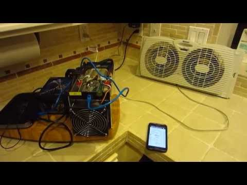Bitmain Antminer S5 Noise Level Vs. Holmes Dual Window Fans - Decibel Meter - Bitcoin Mining