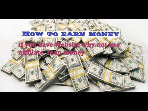 How to make money online easy,   quickly and in a short time use affiliate links