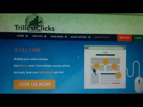 Make Money Online With Website Using Pay Per Click (trillestclick) and register