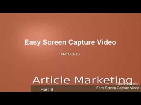 How to Make Money Online 2016 - Article Marketing Video by E-Marketing