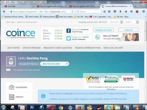 How to register with Coince account, How to make money online 2016