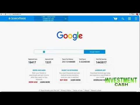 Ganhe Bitcoin com  SearchTrade apenas usando o BUSCA como Sempre fez e faz todos dias..