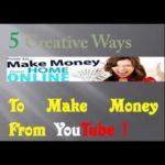 "5 Things To Make Money From YouTube  "" How to make money """