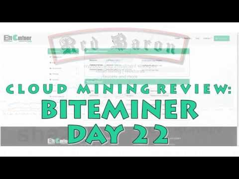 Bitcoin Cloud Mining Review: Biteminer Day 22 - stable medium ROI investment