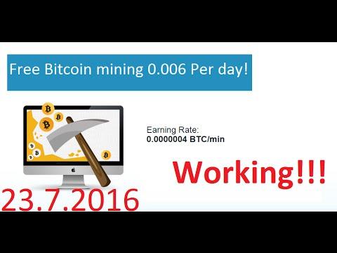 Free Bitcoin Mining 0.006 Per day![BitMiner.io]