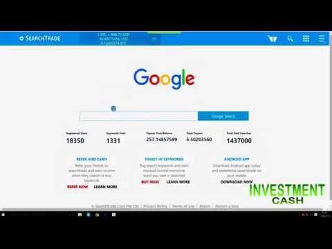 Ganhe Bitcoin com  SearchTrade apenas fazedo  pesquisa no google