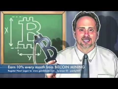 Gain Bitcoin - Earn 10% per month from bitcoin mining Hindi