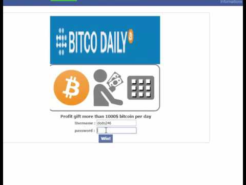 bitcodaily Earn bitcoin 1000$=1.52832 btc New hack bitcodaily شرح