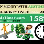 Make Money Online Without Investment 100% Working site l What Is Adstimer And How To EarnTelugu