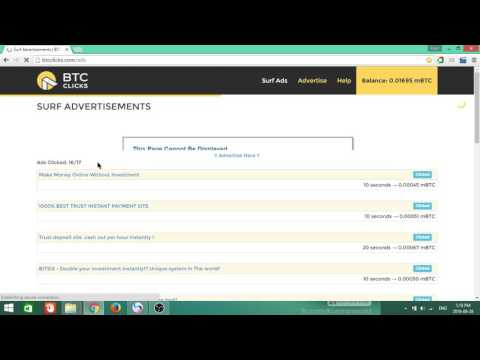 Make Free Bitccoin By BTCclicks 1000BTC Everyday. Real site not scam.
