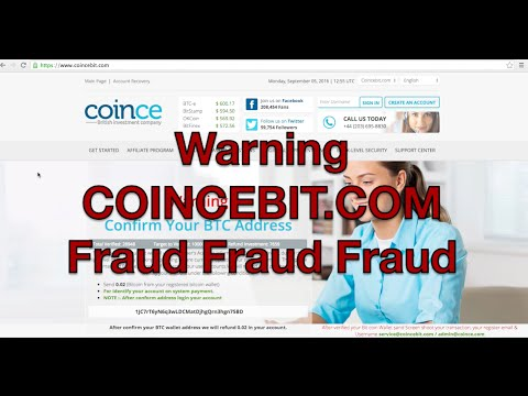 Fraud coincebit.com Coincebit Coince -  Fraud Websites SCAM SCAM SCAM