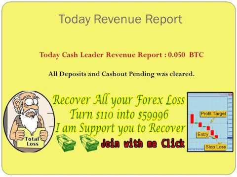 CashLeader bitcoin report & forex recovery