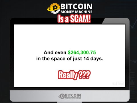 Bitcoin Money Machine is a SCAM! Full Review!
