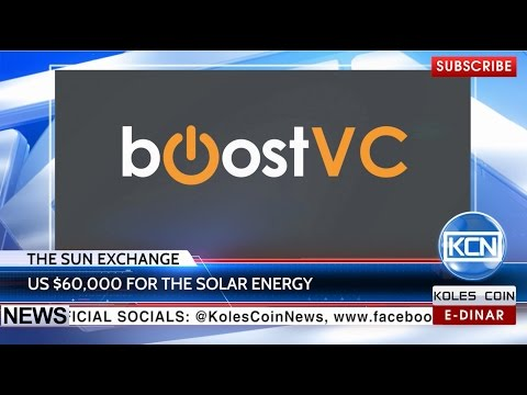 KCN News: $60,000 for The Sun Exchange from BoostVC